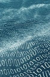 Digital image of binary numbers